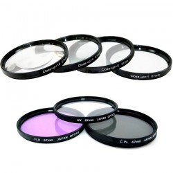 Kit de Filtros Completo UV, CPL FLD + CLOSE UP x4