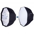 """Octabox con Difusor 120cms / 47"""" para Flash, Strobe, Luz Continua portátil con maleta."""