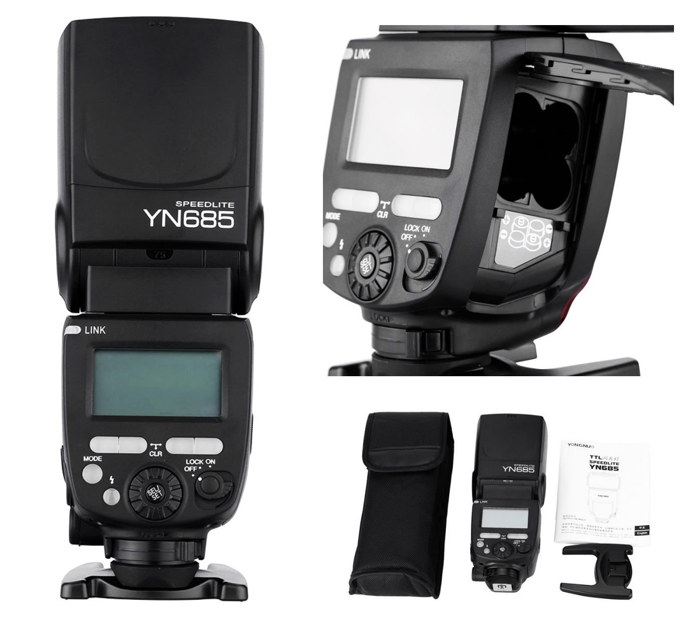 Flash Yongnuo YN685 TTL 1/8000 segundos para Canon