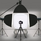 Caja Cubo de Luz para Fotografía de Producto 60x60 cm con 4 Fondos