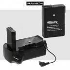 Kit Para Nikon D3100 D3200 D3300 Grip de batería + Bateria EN-EL14