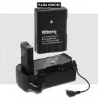 Kit Para Nikon D5100 D5200 D5300 Grip de batería + Bateria EN-EL14