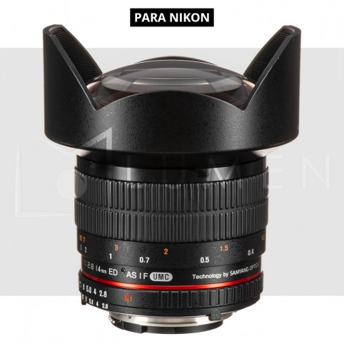 Rokinon 14mm f/2.8 Ultra Gran Angular AE Chip ED AS IF UMC