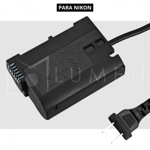 Para D600, D7000, D7100, D7200, D750, D810 - Adaptador de corriente