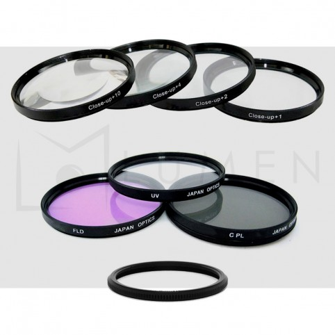 Kit para Canon SX: 7 Filtros Uv, Cpl, Fld, Macro +1 +2 +4 +10 para Sx50 Sx40 Sx30 Sx20