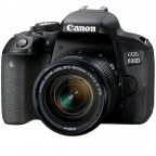 Cámara Canon EOS Rebel T7i con lente EF 18-55mm IS STM Negro