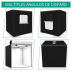 Cubo de Luz Estudio Fotografía de Producto Portable 80x80cm