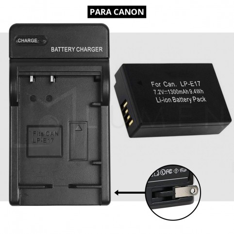 Cargador + Bateria Lp-E17 para Canon T6i  X8i 8000D