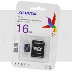 16GB Memoria MicroSD Adata Clase 10 con Adaptador 50MB/s
