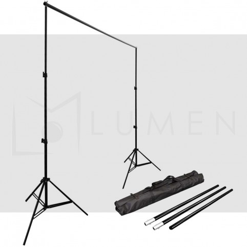 Soporte de Telón para  Estudio Fotográfico y  Video (Dos trípodes, una barra horizontal)