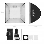 "Softbox Godox 24x24"" 60x60cm con Montura Universal Flash Luz"