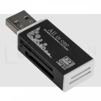 Lector USB Multi Tarjetas SD 4-en-1: SD, Mini SD, Micro SD, MS