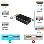 Adaptador Display Port DP (Macho) a HDMI (Hembra)