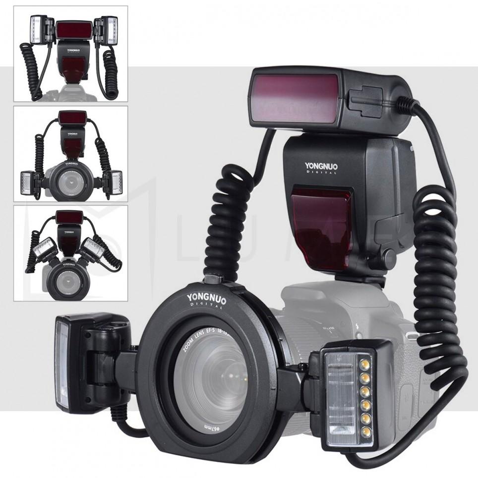 Twin Flash Macro YN24EX TTL Yongnuo para Canon