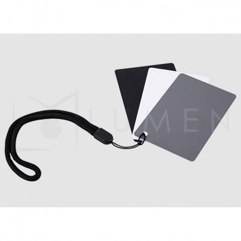 Set Tarjetas Balance de Blancos 5x7,6cm con cordón