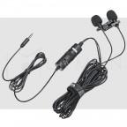 Micrófono Doble Omni-direccional de solapa BOYA M1DM Dual