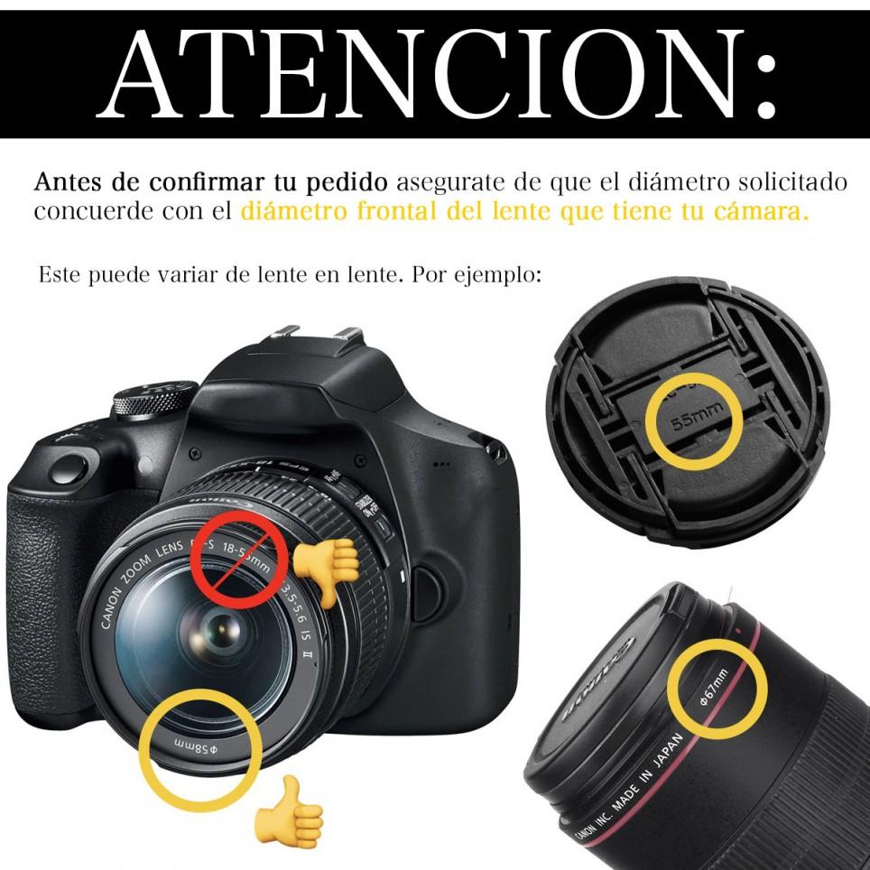 Kit de Filtros + Parasol + Tapa Protectora para camaras Canon o Nikon // Varios Tamaños