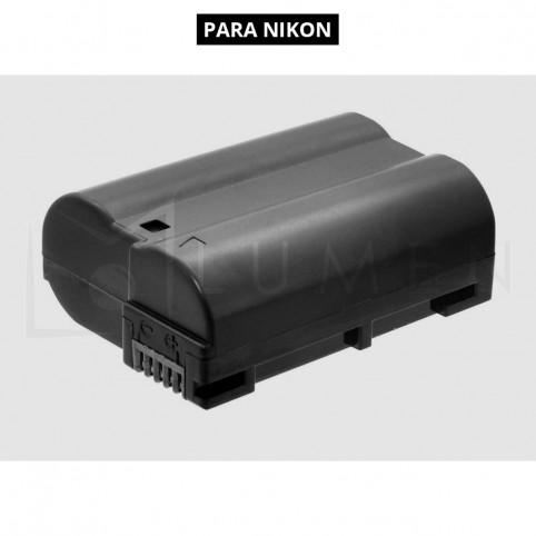 Batería recargable EN-EL15 de 2.400 mAh para Nikon D700, D7100, D7200.