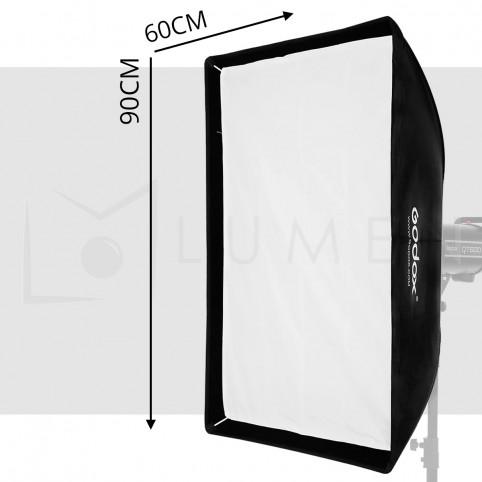 Softbox 60x90cm Montura Bowen para Flash Strobe 180w 300w 400w