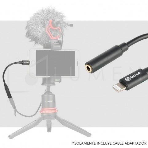 para iPhone Adaptador de microfono Jack 3.5 a Lightning