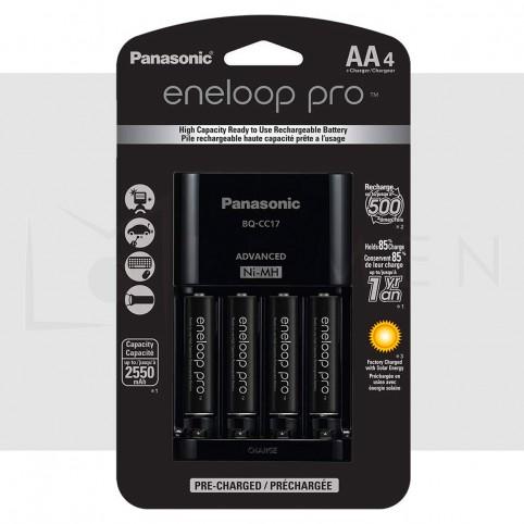 Cargador + Pilas AA Panasonic Eneloop Pro