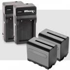 2 Baterias NP-F975 y 2 Cargadores Para Led Y Sony