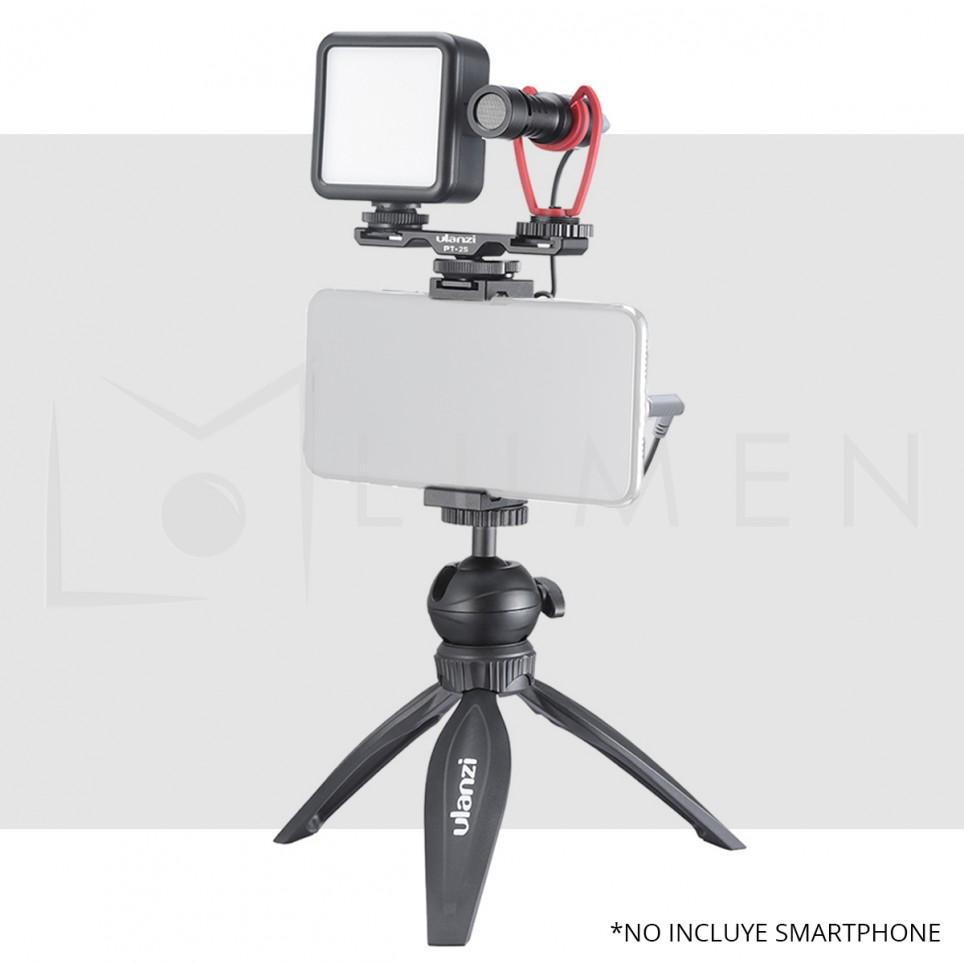 Kit Vlog Micrófono Luz Led Trípode Ulanzi para Smartphone