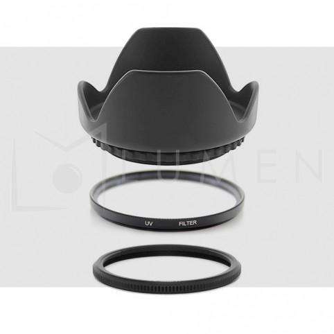 Kit para Canon SX: (Uv + Parasol) para Sx50 Sx30 Sx20 Sx60