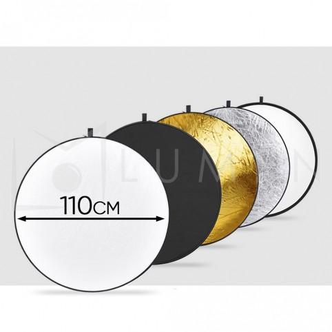 Reflectores / Difusores 110 cm. para  Video y Fotografia 5 en 1