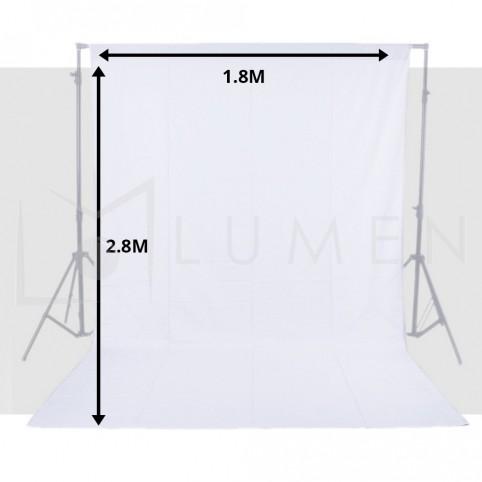 Telón Blanco 1.8m x 2.8 m para Fondo de Estudio Fotográfico Video