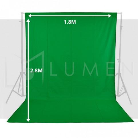 Telón Verde 1.8m x 2.8 m para Fondo de Estudio Fotográfico Video