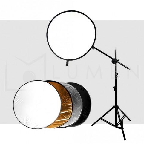 Kit Reflector 5 en 1 + Soporte Iluminación Fotografía Video