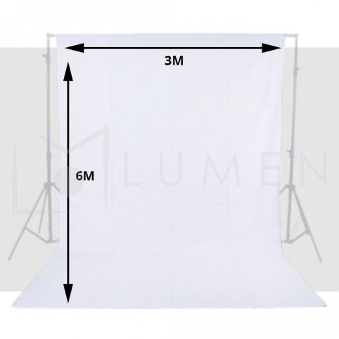 Telón Blanco 3m X 6m Para Fondo De Estudio Fotográfico