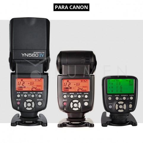 Kit Para CANON Yongnuo 560tx + 560Iv x2 Flash Estudio Fotografía