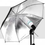 Kit de Iluminación 225w con Sombrilla Dorada Fotografía Video
