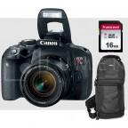 Canon Rebel T7i / 800d + EF 18-55mm IS STM + Memoria 16GB + Maleta