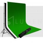 Kit Portafondos + 3 Telones Para Estudio Fotografico