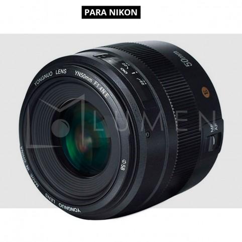 Lente Yongnuo EF 50mm f/1.4N E para Nikon Negro