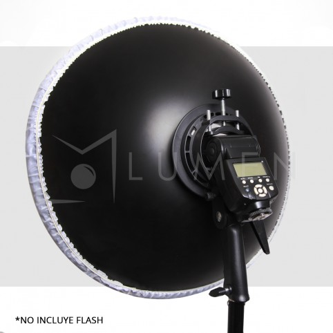 Reflector Beauty Dish 41cm para Flash Speedlite Yongnuo Canon Nikon Godox