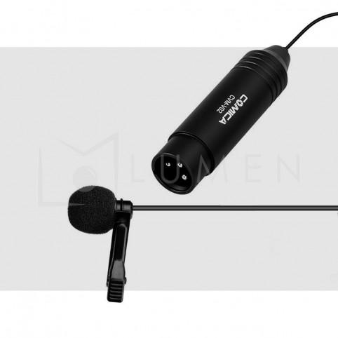 Micrófono Comica Omnidireccional de Solapa XLR Profesional 48V
