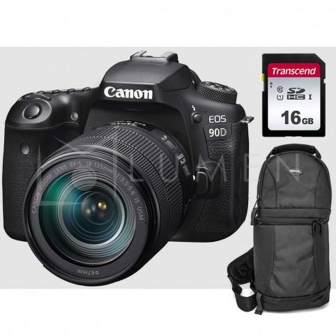 Camara Canon 90d con Lente 18-135mm IS USM