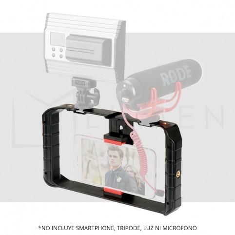 Estabilizador Neewer para Fotografía Video para celular Smartphone iPhone Samsung  Huawei Negro